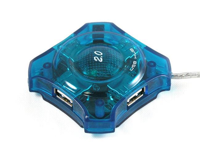 Sabrent Blue External Hot-pluggable Four-port 2.0 USB High-speed Hub