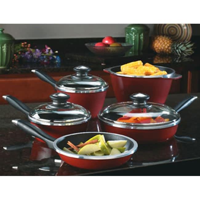 Regalware Red Cast Aluminum Pots and Pans