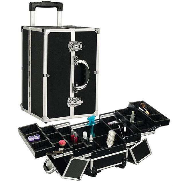 Seya Black Rolling Makeup Case with Dividers