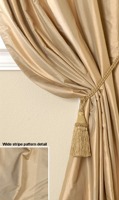 Silk striped curtain panel 50 in x 108 in overstock shopping