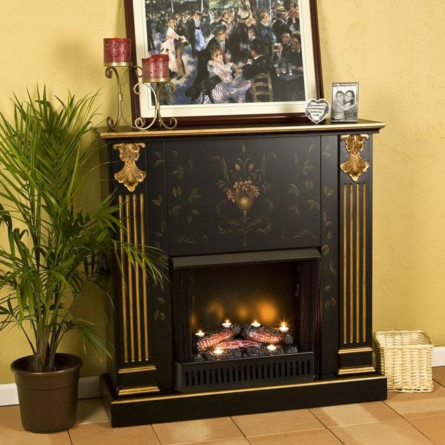grecian gel fireplace with free tealight log 11095897