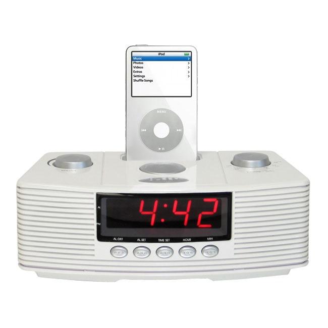 cta digital sound rise ipod dock alarm clock radio. Black Bedroom Furniture Sets. Home Design Ideas