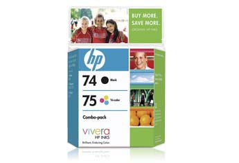 HP 74 & 75 Ink Cartridge Combo