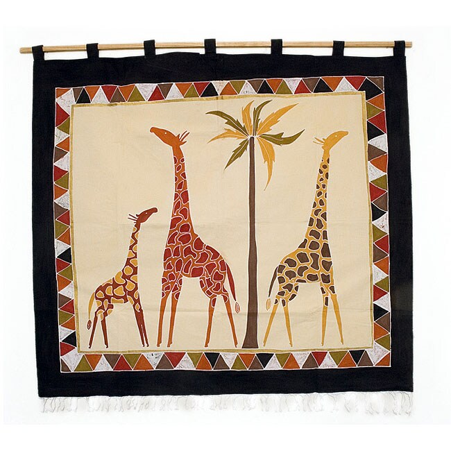 Traditional Savanna Giraffe Wall Hanging (Zambia)