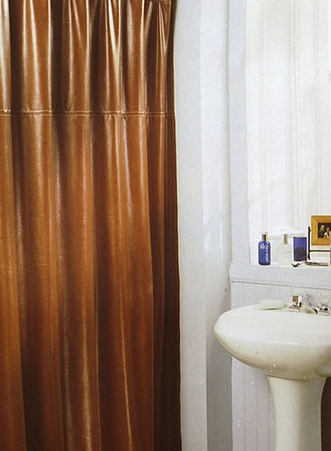 Brown Faux Leather Shower Curtain 11126830 Overstock