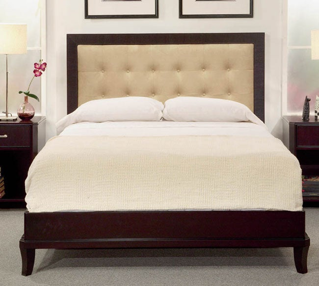 Manhattan King Size Bed With Upholstered Headboard