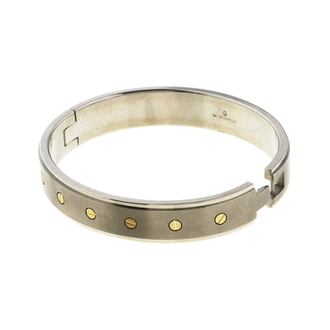 Eziba Collection Men's Titanium and 14k Yellow Gold Bangle Bracelet at Sears.com