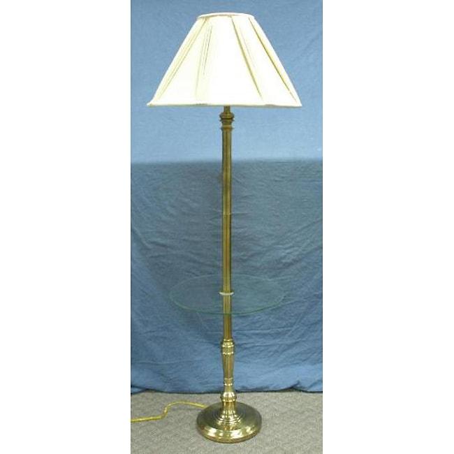 stiffel antique brass gallery floor lamp 11154888. Black Bedroom Furniture Sets. Home Design Ideas