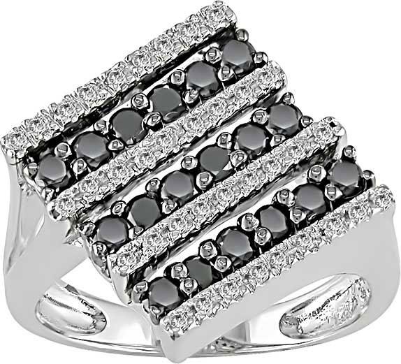 Miadora 14k Gold 3/4ct TDW Black and White Diamond Ring (G-H, I1-2)