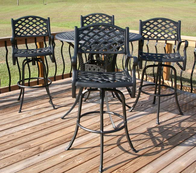Nassau 5 piece Bar height Patio Furniture Set Overstock Shop