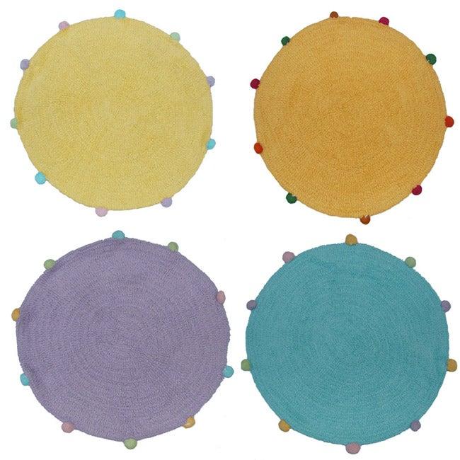 Set of 2 Powder Puff Round Rugs (2'4 Round)