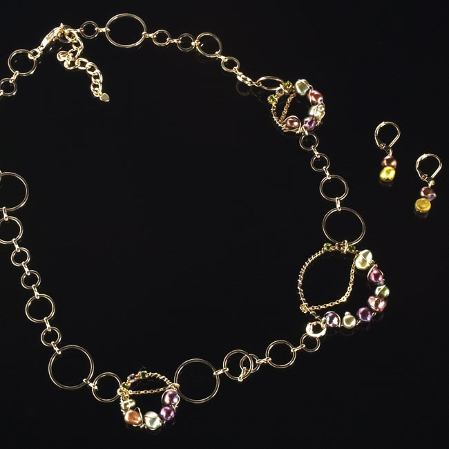 Faux Pearl Necklace and Earring Set