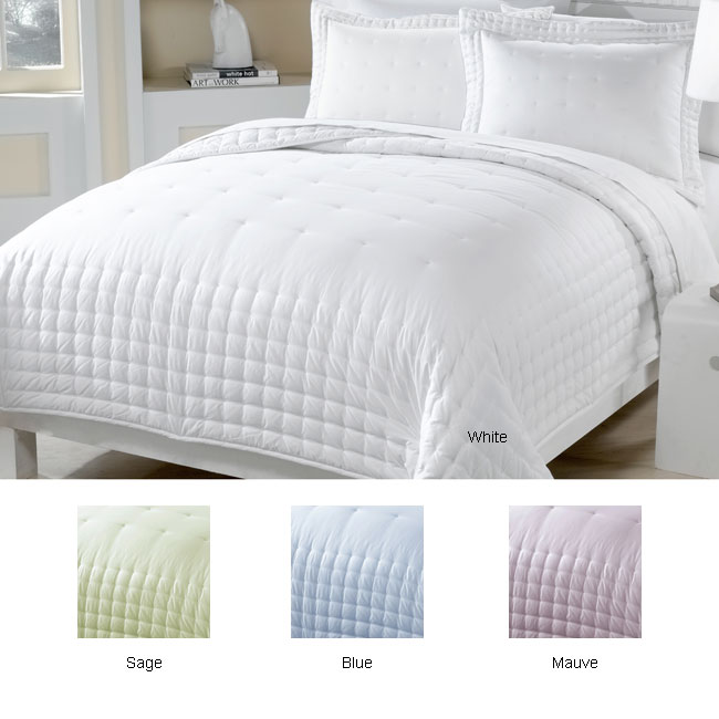 Embroidered Cotton Down Alternative Comforter and Sham Set