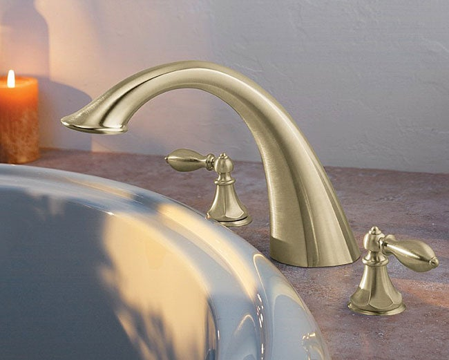 Discount Bathroom Faucets Polished Brass Pull Out Sprary Gold: Price Pfister Roman Tub Satin Nickel Faucet