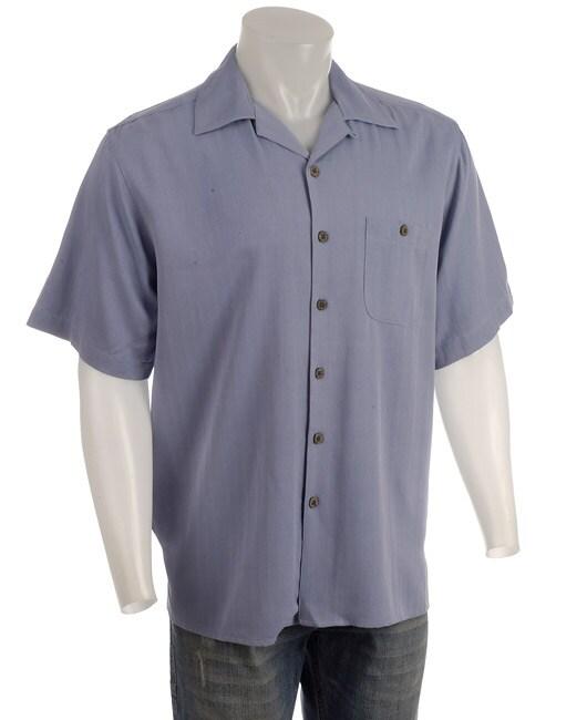 Joe Marlin Men's Embroidered Silk Shirt
