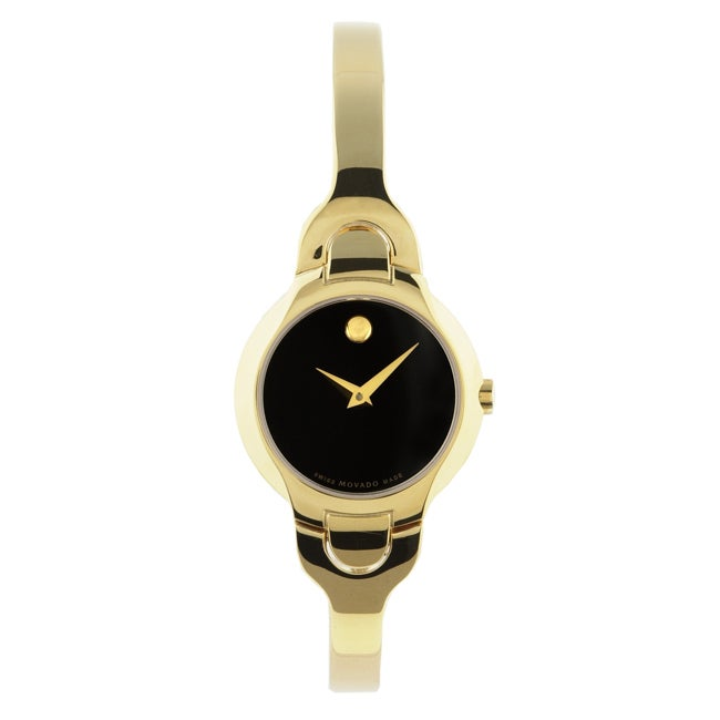 Movado Kara Women's Goldtone Black Dial Watch