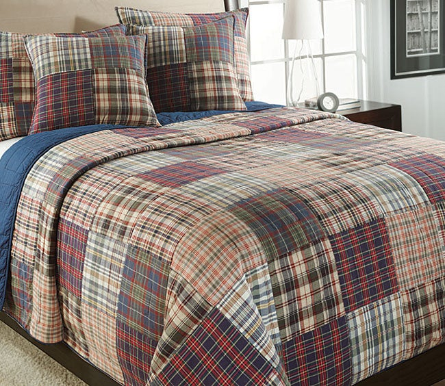 Freeport Madras Plaid Quilt Set