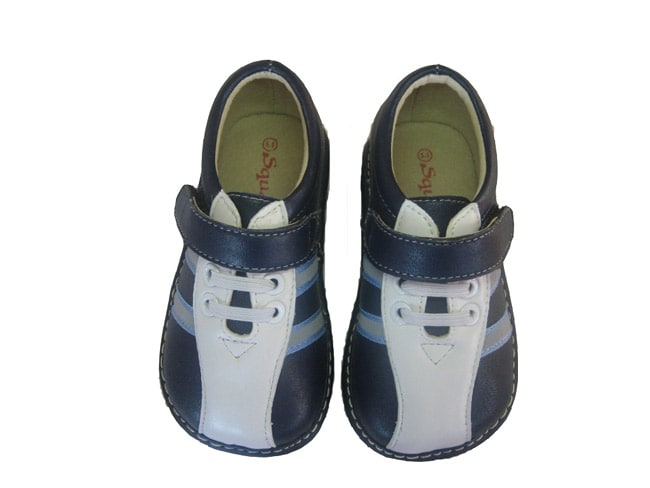 Squeakies Infant and Toddler Blue and White Shoes