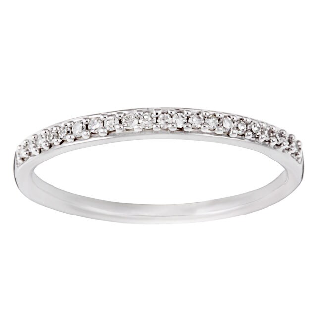 10k White Gold 1 10ct TDW Diamond Wedding Band J K I2 I3 Over