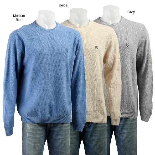 Chaps Men's Long-sleeve Textured Sweater