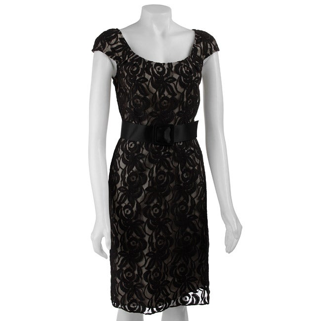 Adrianna Papell Womens Lace Dress