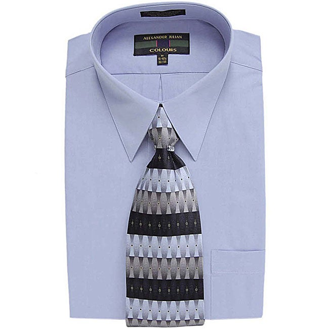 Alexander Julian Men's Dress Shirt and Tie Set