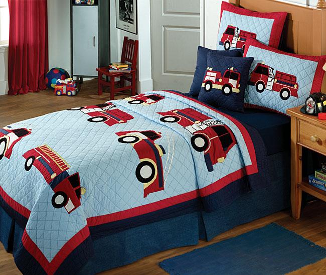 Fire Truck Children's Quilt Set - Overstock Shopping ...