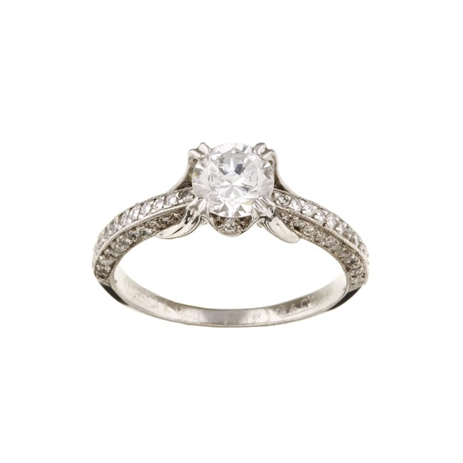 Tacori Platinum CZ and 2 5ct TDW Diamond Engagement Ring G VS