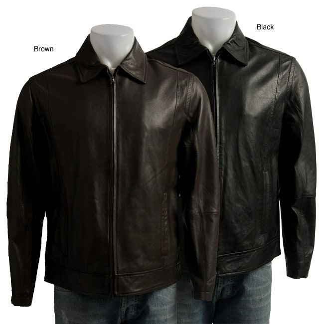 Claiborne Men's Zip-front Lamb Leather Jacket