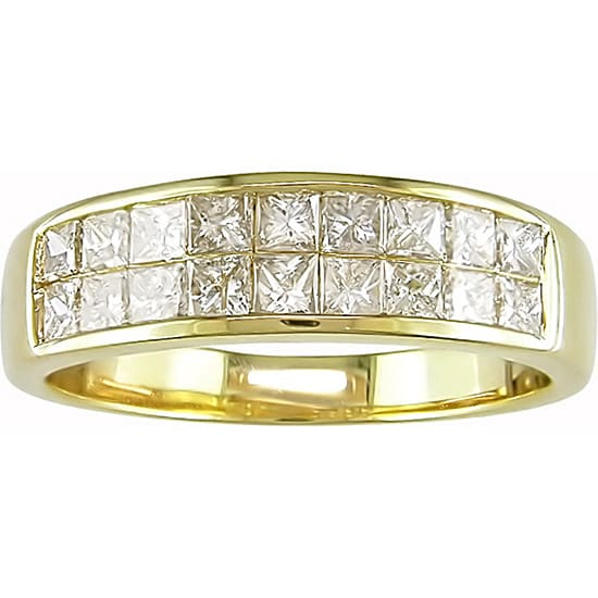 Miadora 14k Yellow Gold 1ct TDW Princess-cut Diamond Ring (G-H,I1-I2)