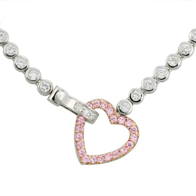 charles winston heartbeat cz necklace 11260083