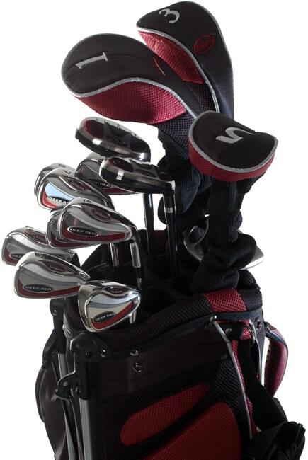 Wilson Deep Red Men's 18-piece Golf Set and Bag