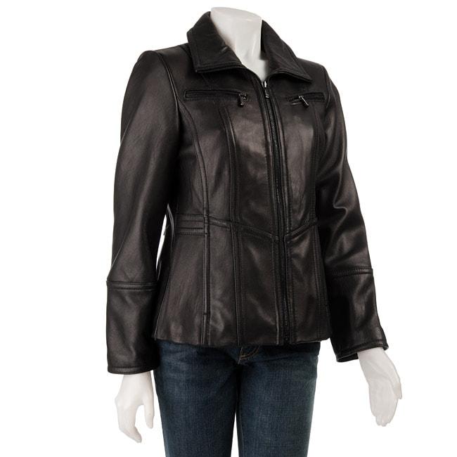 Jones New York Women's Leather Jacket