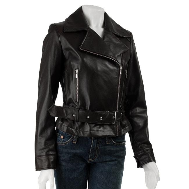 Jones New York Women S Leather Motorcycle Jacket