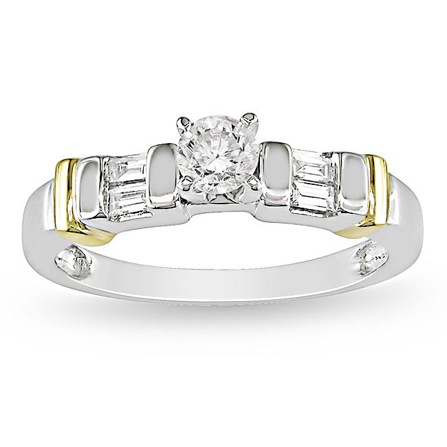 Miadora 14k Two-tone Gold 3/8ct TDW Diamond Ring