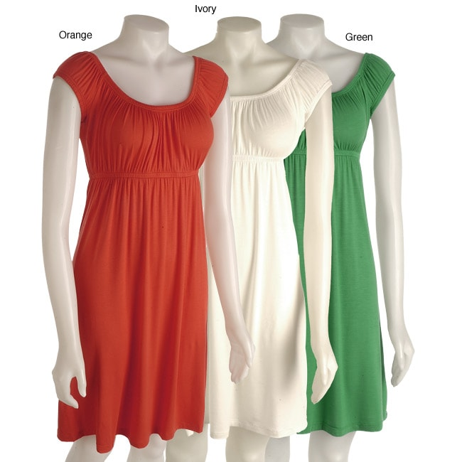Tammy Mars Off The Shoulder Empire Waist Dress