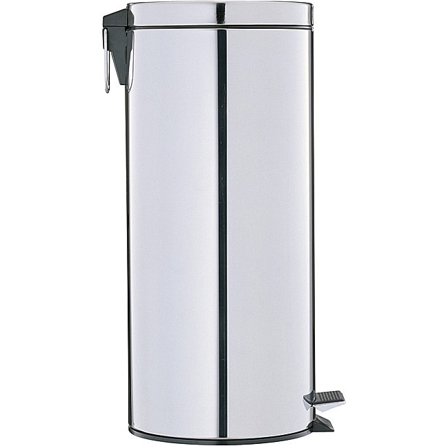 Stainless Steel 17.5-quart Step-open Trash Can