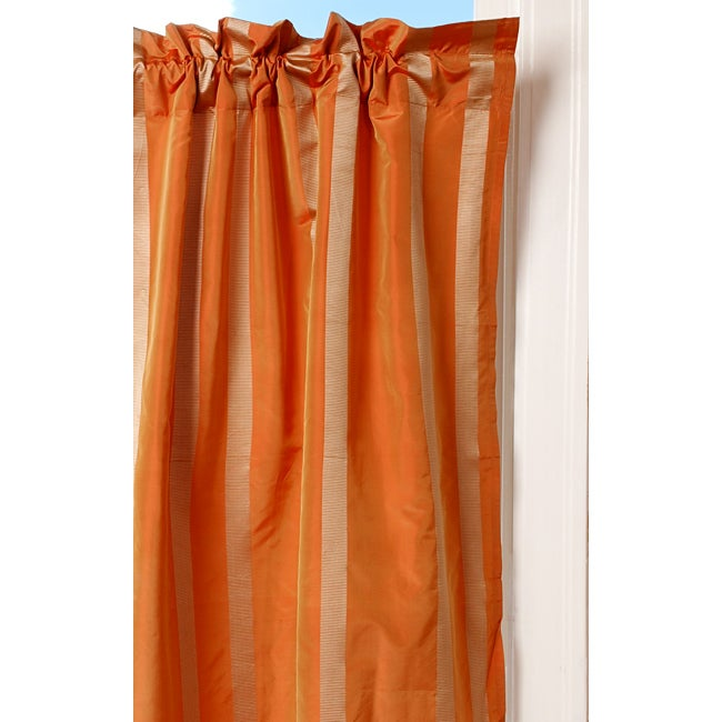 Terracotta Taffeta Curtain (India)