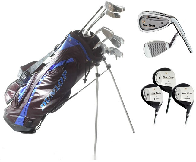 dunlop foremost tour series complete golf club set 11287794 shopping top. Black Bedroom Furniture Sets. Home Design Ideas