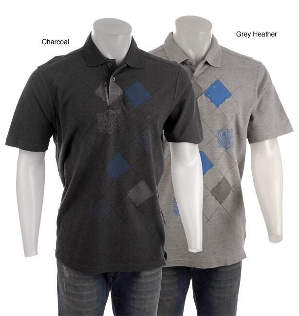 Andrew Fezza Men 39 S Argyle Print Polo Shirt 11289781