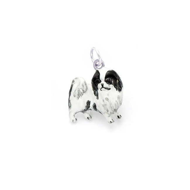 Best in Show Sterling Silver/ Enamel Japanese Chin Charm/ Pendant