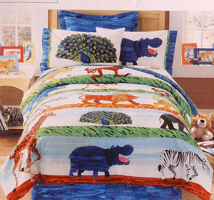 Eric Carle Savannah Comforter and Sheet Set