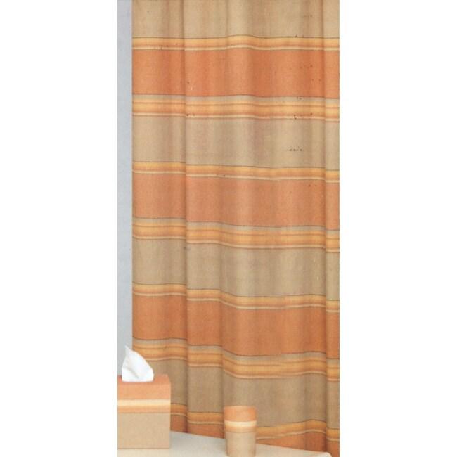 Horizon Green/ Orange/ Yellow Shower Curtain
