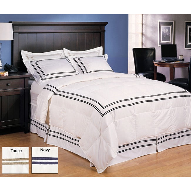 Hotel Collection 3-piece Down Comforter and Sham Set