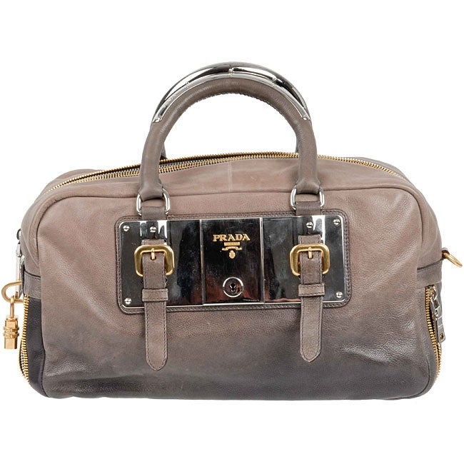 Prada Smoke Ombre Leather Plated Boston Bag - 11306993 - Overstock ...
