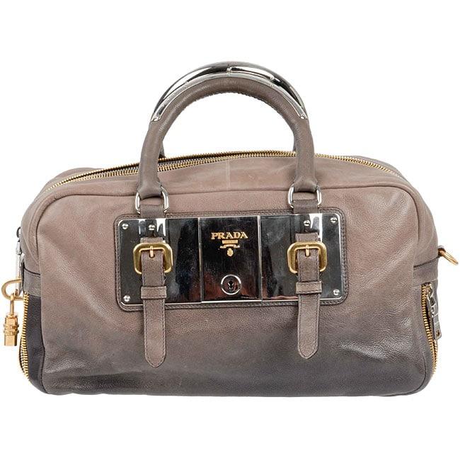 Prada Smoke Ombre Leather Plated Boston Bag - 11306993 - Overstock ...