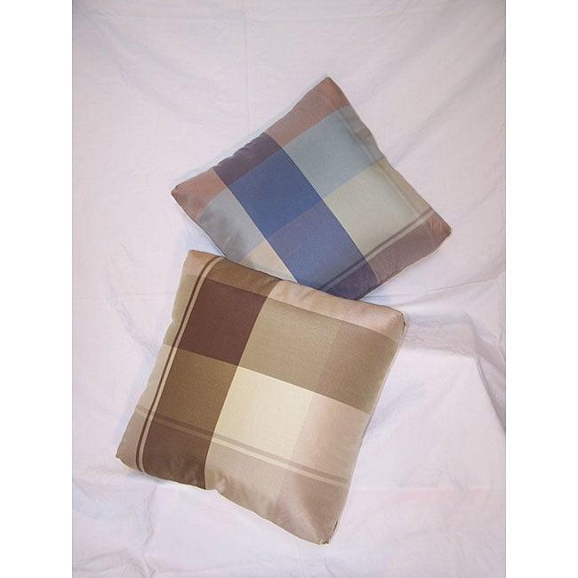 Berwick Plaid Throw Pillows (Set of 2)