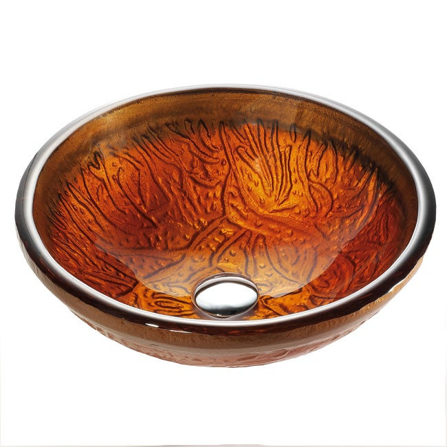 Kraus Copper 19 mm thick Glass Vessel Sink