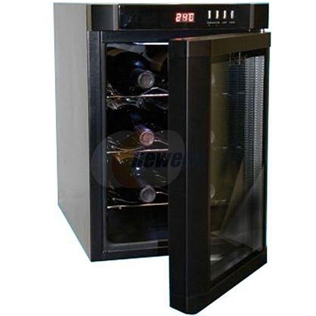 haier black 6 bottle wine cooler 11325669 overstock. Black Bedroom Furniture Sets. Home Design Ideas