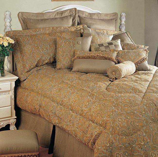 Golden Peacock 9-piece Comforter Set